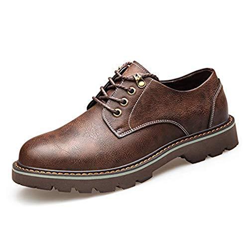 de Desgaste Cuero Redonda Hombres Suelas Resistente Correa para de Goma Brown de de Cabeza la Herramientas LQV para Antideslizante Martin Botas Casual Zapatos Moda al PExUIwqWg