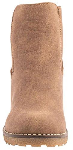 mujer modelo sintética de para cuña Chelsea Khaki New piel Elara Botas de de gruesas qvYtn