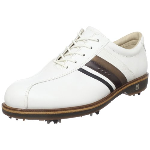 ECCO Women's New Classic City Golf Shoe,White/Black/Espresso/Cocoa Brown,41 EU/10-10.5 M US by ECCO