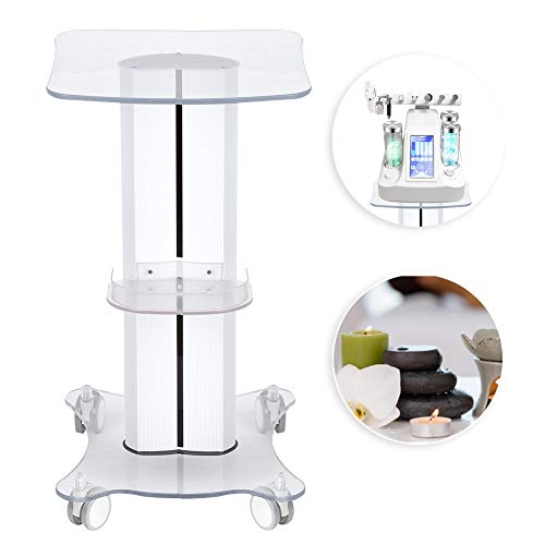 Professional Salon Trolley Cart,Thickened custom cart – Small Bubble Bracket,Use Pedestal Rolling Cart Wheel Aluminum Stand,Suitable For Beauty Salons, Spas, Barber Shop