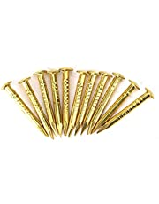 100st spijker, messing spijker, hoge kwaliteit 4 stijlen brazen voor thuis(15mm long)