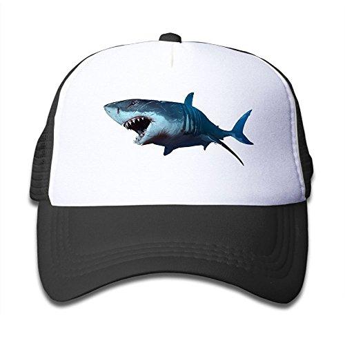 Cotton Wounded Shark Baseball Hats Adjustable Kids Mesh Caps Boys-Girl