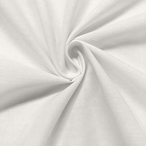 (Cotton Polyester Broadcloth Fabric Apparel 45 (10 YARD, White))