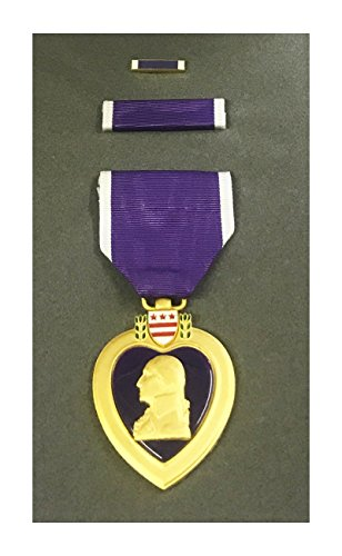 Military Heart Medal (Purple Heart Medal Complete Box Set in Official Presentation Case (As Issued by US Military))