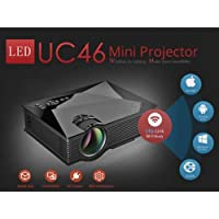 Mini Projetor Led 1200 Lumen Wifi Data Show 130pol Conecta Celular Tablet Uc46 bivolt