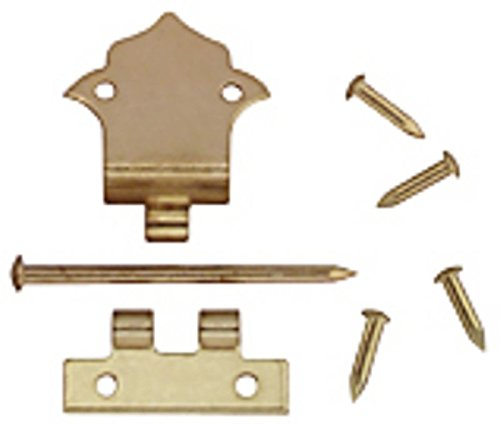 Handley House Dollhouse Miniature Set of 6 Brass Offset Hinges with Nails
