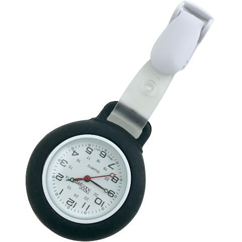 Nurse Watch - Clip-on Silicone (Infection Control) - (Military Time 24 Hr Clock)