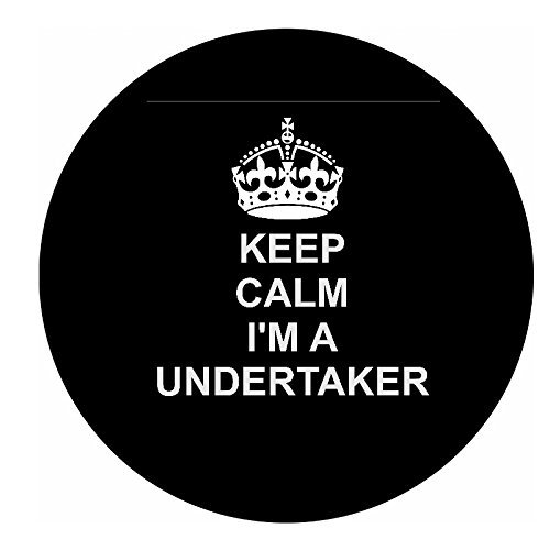 undertaker 12 of BLACK Edible cupcake cake toppers (38mm - 1.5inch) pre cut - ready to use wafer paper discs by The Lazy Cow