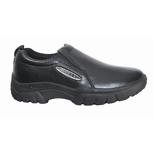Roper Men's Performance Slip-On Casual Shoes Wide Black US by Roper