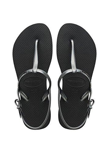 Caviglia Cinturino con Nero Black Freedom alla Havaianas Sandali Donna gwqnX1WtS