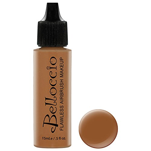 Belloccio's Professional Cosmetic Airbrush Makeup Foundation 1/2oz Bottle: Hazelnut- Medium- dark Olive (Medium Dark Olive)
