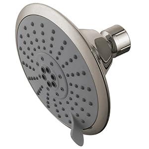 Kingston Brass Watersense KX258 5-inch Diameter 5 Functions Spray Pattern Shower Head, Satin Nickel