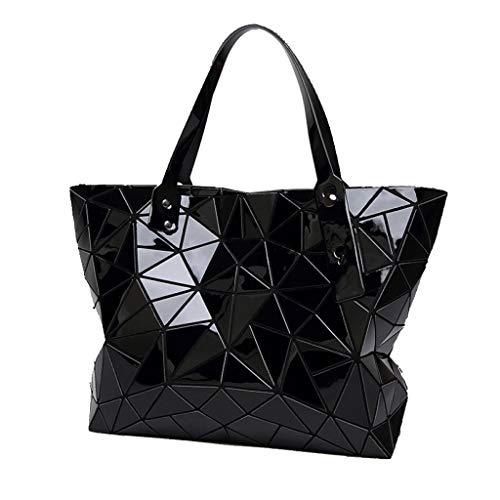 Rombal De Plegable Estéreo Bolso Geometría Personalidad La Negro Cubo qRddEAw