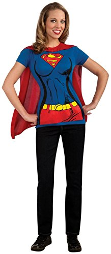 Female Superhero T-Shirt Adult Costume Supergirl - Large