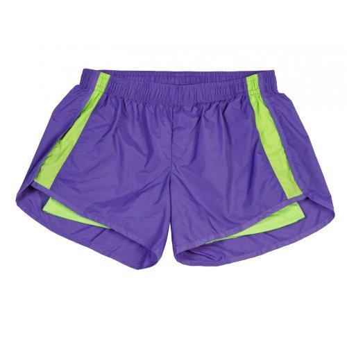 Seersucker Boxercraft - boxercraft Womens/Ladies Endurance Sports Shorts (XL) (Purple/Lime)