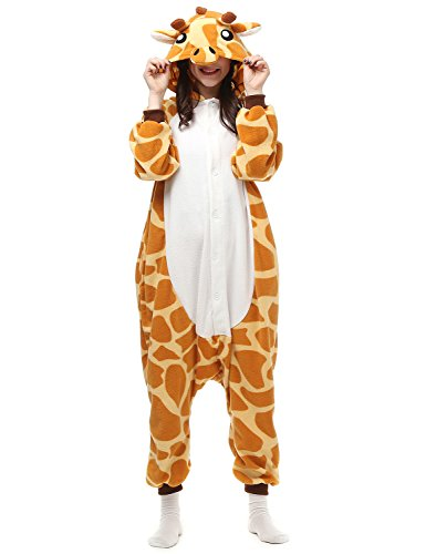Belle House Giraffe Animal Cosplay Onesie Adult Sleepsuit Kigurumi Costume AC057 (Bella Onesie)