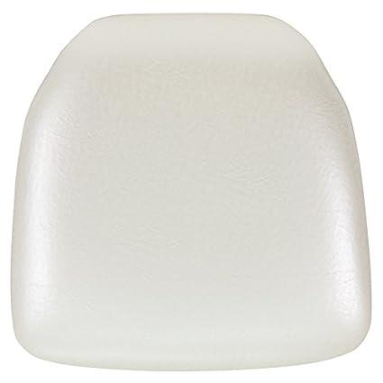 Flash Furniture Hard Ivory Vinyl Chiavari Chair Cushion