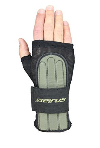 Over Snowboard Glove (Seirus Innovation Jam Master Exo Under Glove Wrist Protection, Black,)