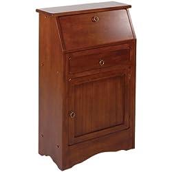 Winsome Wood Secretary Desk, Walnut