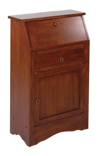 Winsome Wood Secretary Desk, Walnut