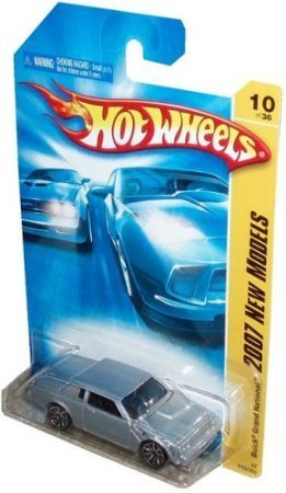 Mattel Hot Wheels 2007 New Models Series 1:64 Scale Die Cast Metal Car # 10 of 36 : Silver Coupe Buick Regal Grand National