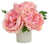 RG Style Silk Peonies in Decorative Vase Artificial Floral Arrangement