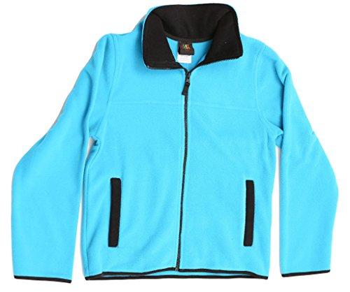 Just Love 98503-TRQ-10/12 Solid Polar Fleece Girls (Fleece Warm Up Jacket Coat)
