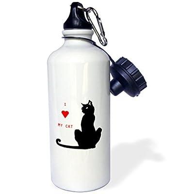 I Love My Cat Sports Bouteille d'eau en acier inoxydable Bouteille d'eau pour femme homme enfants 400ml