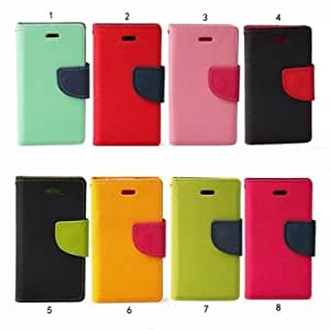 Fashion Slim Contrast Color PU Leather Stand Case For iPhone 4 4S --- Design:7