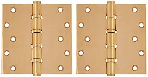 Deltana DSB66BB3-UNL Solid Brass 6-Inch x 6-Inch Square Hinge