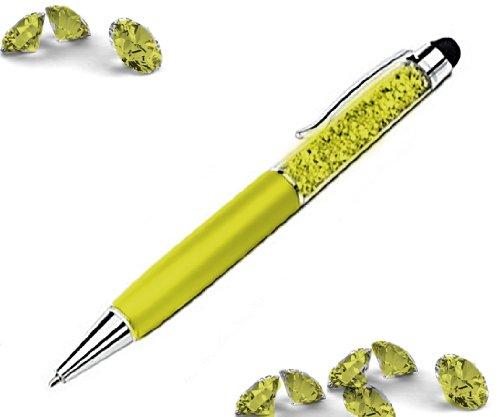 con Pouch para todos los Touchpad screens regalo amarillo krsita llsteinchen l/ápiz capacitivo Touch Pen Entrada Elegante Mujer Bol/ígrafo con brillantes