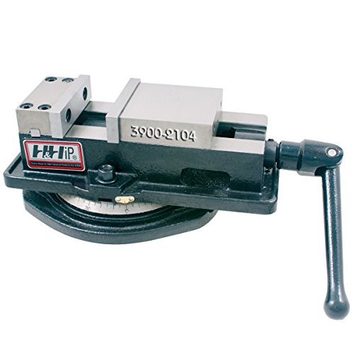 HHIP 3900-2104 Pro-Series Angle Tight, Positive Lock   Milling Vise with Swivel Base, 3
