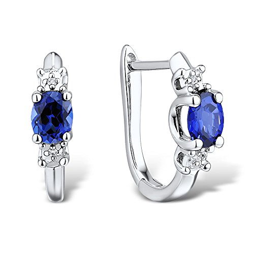 lab-created-blue-sapphire-huggie-hoop-earrings-in-rhodium-plated-sterling-silver-with-diamond-accent