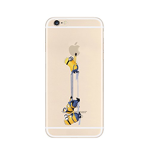 MINIONS TRANSPARENT CLEAR TPU SOFT CASE FOR APPLE IPHONE 7 PLUS 3 MINIONS 4
