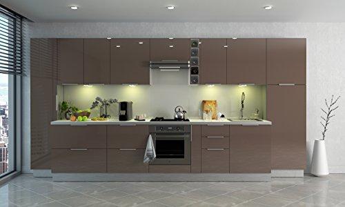 Berlenus CP8HT - Mobile Alto da Cucina con 2 Ante, 80 x 34 x ...
