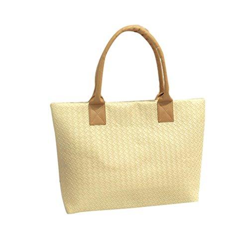 Tuscom Handbag Tote��29��43��9CM�� Messenger Women Leather Bag Beige Hobo fOnqprf6