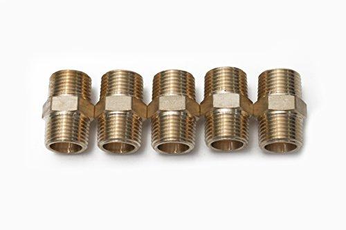 Plastic Hex Nipple - Generic Brass Pipe Hex Nipple Fitting 1/2