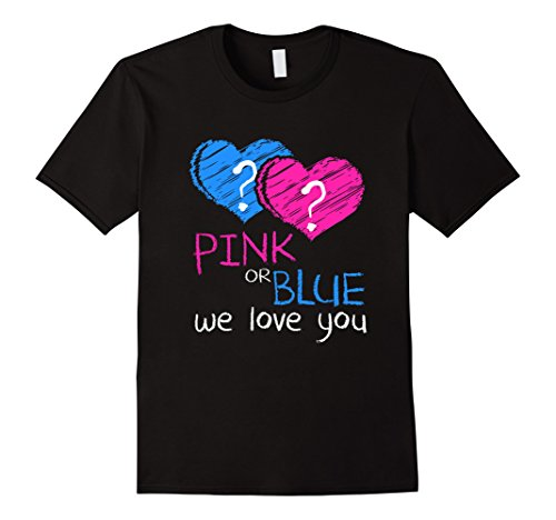 Mens Pink or Blue We Love You - Baby Shower Gender Reveal T-Shirt XL (Gender Reveal T Shirts)