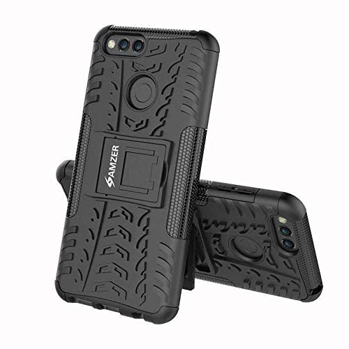 AMZER Hybrid Dual Layer Warrior Case for Huawei Honor 7X - Black