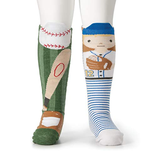 DEMDACO Baseball Player & Bat Child's 18-36 Months Stretch Cotton Story Time Knee High -