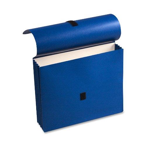 Wilson Jones ColorLife Expanding Wallets, 9 1/2'' x 11 3/4'', Letter, Dark Blue, Box of 10 Wallets (WCC719-4BL)