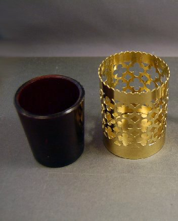 Solid Brass Traditional Church or Chapel Votive Candle with Red Glass Globe - Chalice (CCG-231) by Classical Church Goods (Image #3)