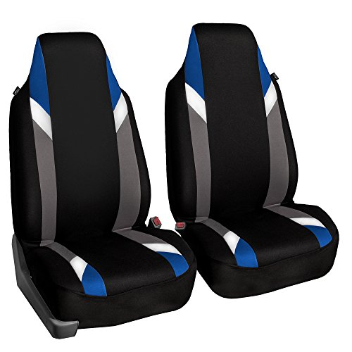 FH Group FB133BLUE102 Bucket Seat Cover (Supreme Modernistic Airbag Compatible (Set of 2) Blue) (Seat Corvette Foam)