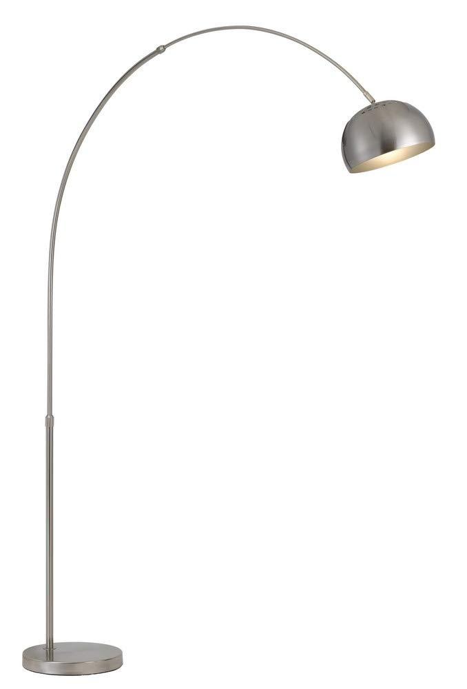 85 in. Metal Floor Lamp in Brushed Steel