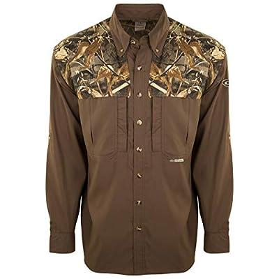 Drake Waterfowl Men's Est Camo Flyweight Wingshooter's Long-Sleeve Shirt