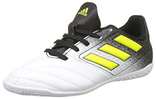adidas Unisex-Kinder Ace 17.4 in Fußballschuhe Mehrfarbig (Footwear White/Solar Yellow/Core Black)