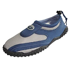 Mens Waterproof Wave Water Shoes (Navy/Grey, Size 11)