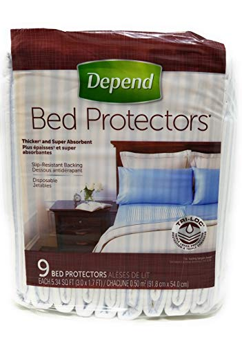 Depend Disposable Bed Protectors, Absorb & Keep Bedding Dry (3 ft x 1.7 ft each), Absorbent - Depend Super Absorbent