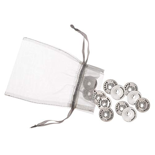 Blessing Ring Dance Charms - Set of 12 Pewter Rings That Can Be Used as Necklaces, Shoe Embellishments or Good Luck Tokens for Dance Team by Whitney Howard Designs