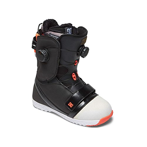 DC Women's Mora Dual Boa Snowboard Boots, Black/White/Pink, 7